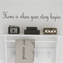 "Wallsticker: ""Home is where your story begins"""